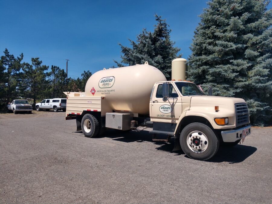 Our trucks deliver propane throughout Arizona.